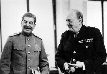 Йосиф Сталин и Уинстън Чърчил