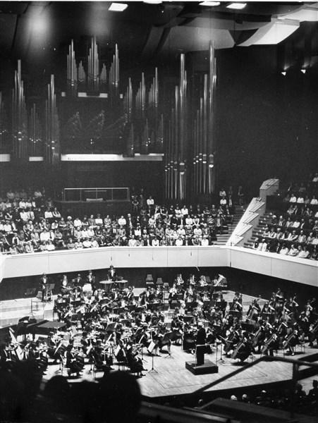 """Концерт на Филхармония """"Пионер"""" в Гевандхаус, Лайпциг, Германия, 1981 г."""