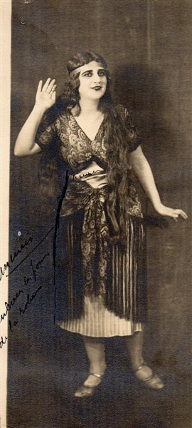 Раля Тончева на сцената, 1924 г.